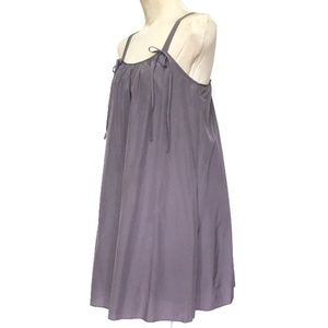 Lilac Parachute Style Silk Blend Dress w/ Pockets!